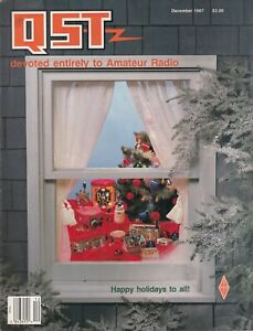QST Magazine Amateur Radio Ham Magazine - December 1987 Christmas !