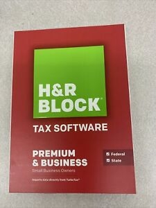 2014 H&R Block tax software Premium and Business new