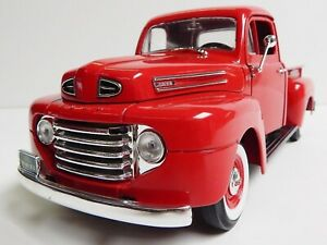 1948 FORD F-1 PICKUP TRUCK RED 1:18 SCALE BY ROAD SIGNATURE 92218