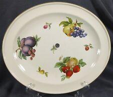 "Wedgwood Fruit Sprays Croft 11"" Oval Serving Platter Rim Shape England"