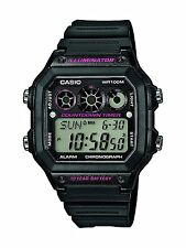 Casio Digital Chronograph Countdown Timer Watch, Black