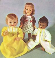 1960s Vintage McCalls Sewing Pattern 2124 Uncut 12 to 16 Inch Baby Doll Clothes