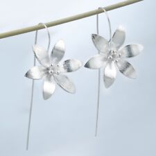 925 Sterling Silber Ohrhänger Ohrstecker Ohrringe Blume Blüte Lotus Stab Boho