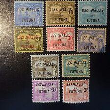 WALLIS E FUTUNA TASSA N°1/8 + N°9/10 NUOVO CON GOMMA ORIGINALE