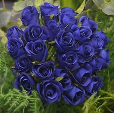 Silk wedding bouquet pre made posy bouquets blue rose roses flowers fake bunch