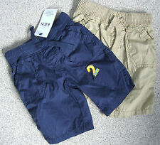 MARKS & SPENCER M&S KIDS 2PKT NAVY SHORTS AGES 12-18MTHS,1.5-2,2-3,3-4,& 4-5YRS