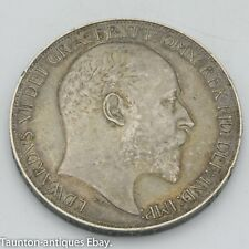 More details for 1902 silver crown coin edward vii vf toned