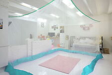 Large size White Mosquito Fly Net Netting Indoor Outdoor Camp Portable defense