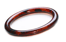 TRADITIONAL & TIMELESS DARK BROWN AMBER EFFECT PLASTIC ROUND BANGLE (ZX59)