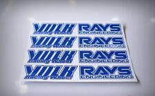 JDM Wheel stickers,rim decals ,rays volk,TE37,LE37,GTP,GT-P,15-18 inch,Blue,4pcs