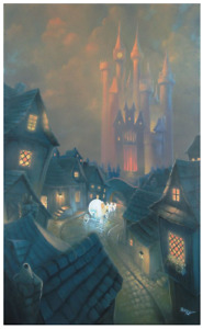 Disney Fine Art Limited Edition Canvas The Palace Awaits-Cinderella- Rob Kaz