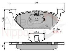 Allied Nippon Bremsbeläge Vorne Set Adb0737 - Brandneu - 5 Jahre Garantie