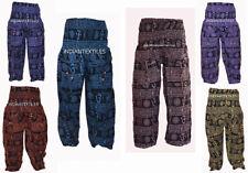 Indian Cotton Handmade Ethnic Om Print Yoga Pant Throw Men Women Harem Lot of 6