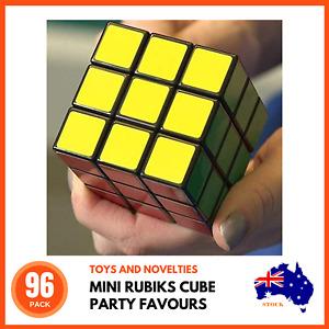96 x MINI RUBIKS PUZZLE CUBES Party Favours Children's Puzzles Educational Toys