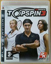 TOP SPIN 3. PS3. ESPAÑOL. COMO NUEVO.