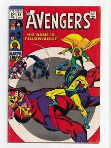 Avengers #59 1st Appearance Yellowjacket Marvel Comics 1968 FN+