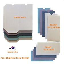 10x  DIY Metallic  Rectang Wedding  invitation pocket  with insert card 250GSM