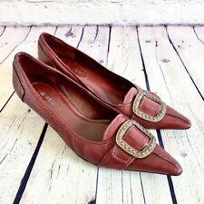 Nine West Women's Burgundy Heels Size 8