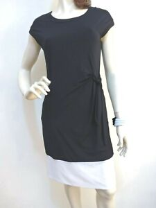 Target Collection Black & White Pull-On Shift Dress Side Tie Poly/Elas Size~10