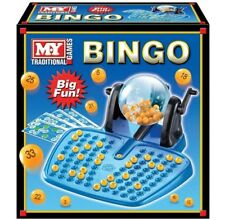 Bingo LOTTO Game 48 Cards 100 Covering Chips 90 Balls and The Ball Dispenser