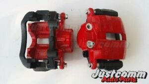 HOLDEN COMMODORE VT VX VY VZ RECONDITIONED REAR BRAKE CALIPERS - PAIR - RED