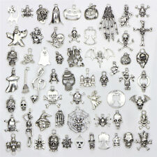 60PCS/Set Bulk Lots Tibetan Silver Mix Halloween Pendants Charms Jewelry Gift PA