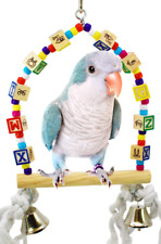 1137 ABC Small Swing Bird Toy parrot cage toys cages parakeet finch lovebird