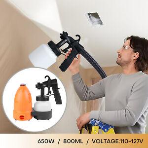 650W Electric Handheld Paint Sprayer Gun Nozzle High Pressure Home Painting HVLP