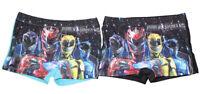 Power Rangers Badehosen Badeshorts 2er Set Blau und Schwarz für Jungen, NEUWARE