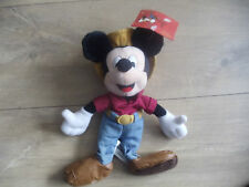 Disney : Mickey Frontierland Soft Toy Plush Bean Bag - Exclusive - Mickey Mouse