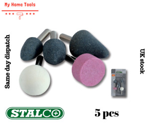 """5 PC STONE BIT SET GRINDING MOUNTED 1/4"""" ROUTER GRINDER DRILL CRAFT METAL"""