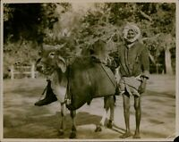 GA41 Original Photo WATER VENDOR Madurai India Man With Animal Poverty Rags