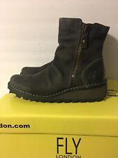 NIB Mong Boots Fly London Diesel Oil Suede Women's US 5.5-6 EUR36
