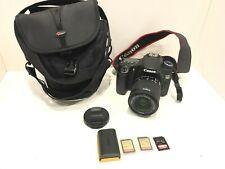 Fotocamera Digitale Canon EOS 70d Body + EFS Canon 18-55mm obiettivo 128,64,32gb SD