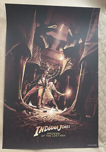"Indiana Jones ""WELL OF SOULS"" Variant 24x36"" Screen Print By Rich Kelly NT Mondo"