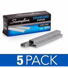 "Swingline Staples, Standard, 1/4"" Length, 210/Strip, 5000/Box, 5 Pack (35101)"