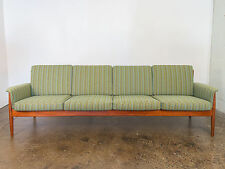 1960s Teak Knoll Fabric Grete Jalk Sofa for France & Son