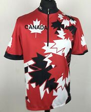 MEC Mountain Equipment CO-OP CANADA Cycling Jersey Men's Size XXL Maple Leaf Top
