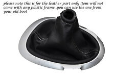 WHITE STITCHING FITS NISSAN JUKE 2010-2013+ LEATHER GEAR GAITER ONLY