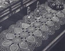 Vintage Crochet Pattern to make Pineapple Set Doily Runner PineappleVanity