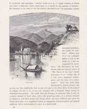 Lago d 'ciudada ortasee Cusio madera clave para 1880 xilografia