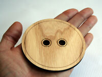 Large Wooden Button 70mm/Hand Shape/Laser Cut/Beads/Sewing/Crafts