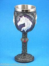 Gothic Medieval Skull & Bones Unicorn Goblet / Cup * New in Box *