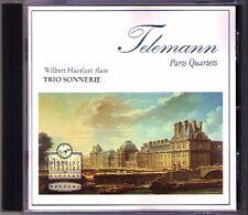 TELEMANN Paris Flute Quartets Wilbert HAZELZET TRIO SONNERIE CD Mitzi Meyerson