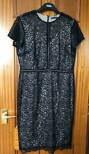 MARKS AND SPENCER COLLECTION BLACK LACE DRESS SIZE 14 REGULAR BRAND NEW