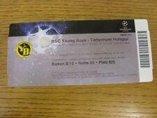 17/08/2010 Ticket: BSC Young Boys v Tottenham Hotspur [UEFA Champions League] (c