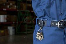 "Key-bak #5BH Chrome Retractable Reel With 24"" Stainless Steel Chain Keys Clip"