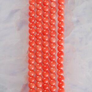 "HP1255-b 4mm Baked Porcelain Glass Ball Loose beads 16"""