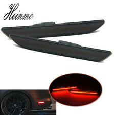 For Ford Mustang 2015 2016 2017 2018 LED Rear Side Marker w/ Red Lights Smoked