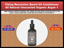 Viking Revolution Beard Oil Conditioner - All Natural Unscented Organic Argan 1